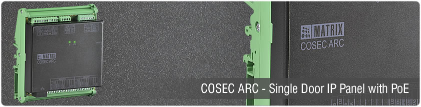 COSEC ARC - Single Door IP Panel with PoE